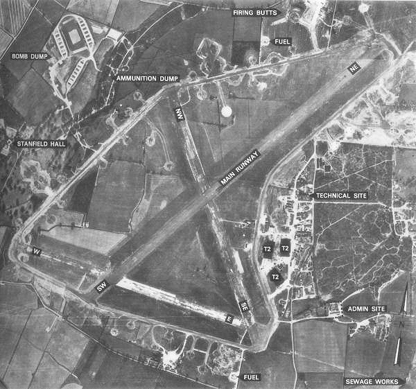 Hethel Airbase in 1944