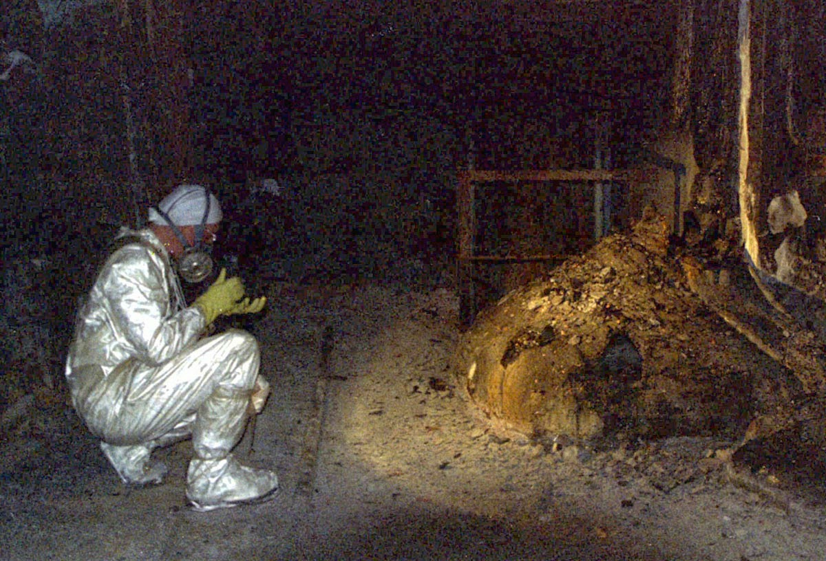 The Elephant's Foot of the Chernobyl disaster, 1986 (1)