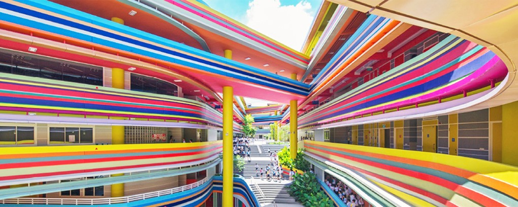 This Joyful Design Of This Crazy Singapore School Rainbow Is A Rainbow Of Colours_Image 0