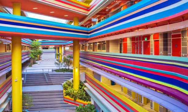 This Joyful Design Of This Crazy Singapore School Rainbow Is A Rainbow Of Colours_Image 1