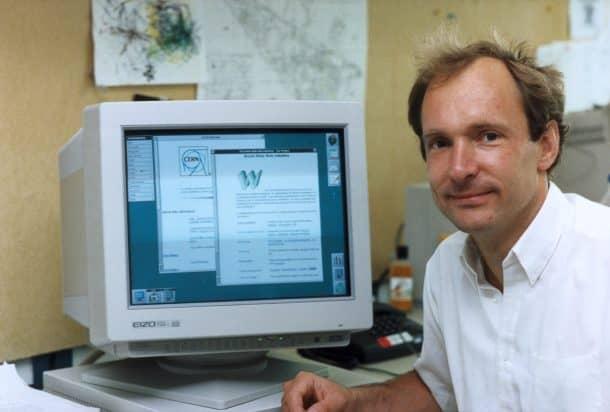Tim Berners-Lee, pioneer of the World Wide Web, 1990s. Credits: sciencemuseum.org.uk