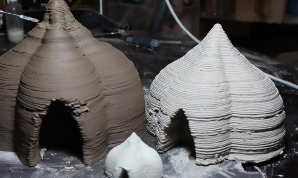 Zero-Cost Mud Homes Produced By The World'sLargest Delta 3D Printer_image 10