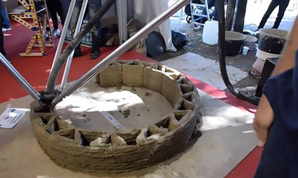 Zero-Cost Mud Homes Produced By The World'sLargest Delta 3D Printer_image 12