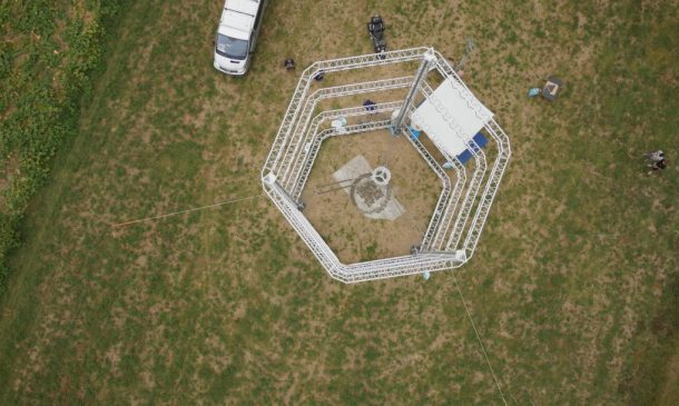 Zero-Cost Mud Homes Produced By The World'sLargest Delta 3D Printer_image 17