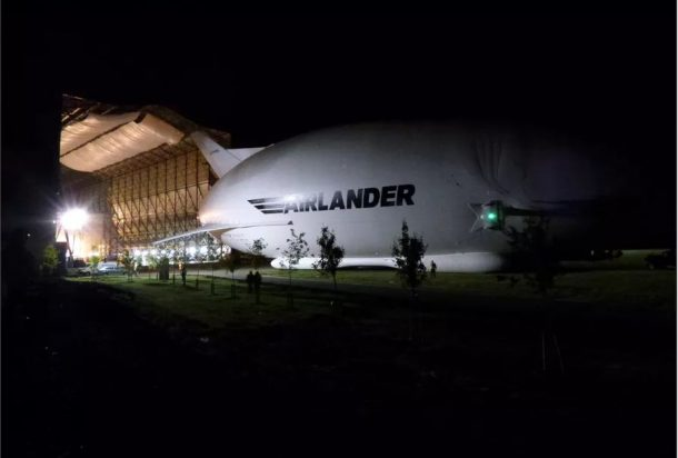 Airlander 10 making its first public appearance(Credit: Hybrid Air Vehicles)
