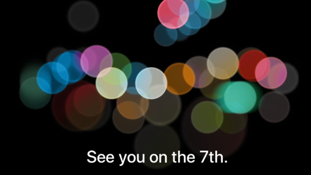 Apple's announcement for the September 7, 2016 event. Credits: Newatlas