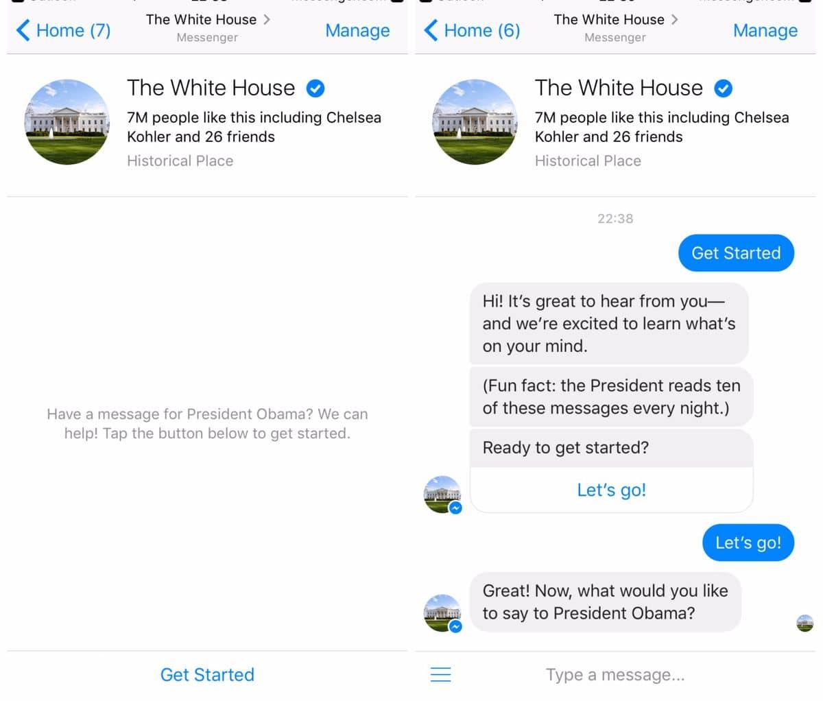 email obama using facebook