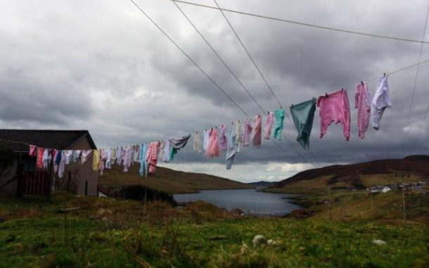 Washing on a clothes line. Credits: REUTERS