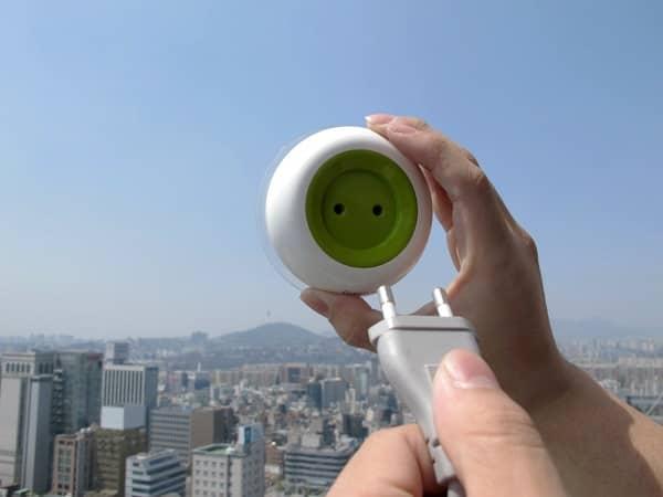 solar window socket