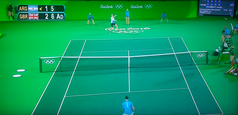tennis final green screen