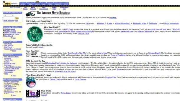IMDb original website. Credits: money.cnn.com
