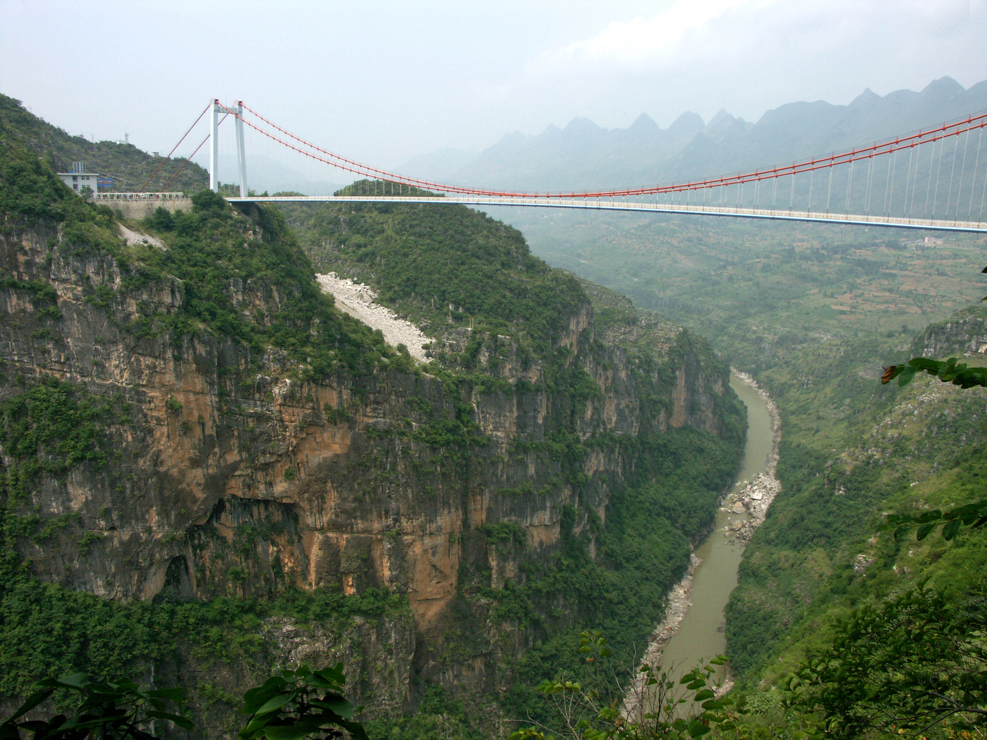 Image result for Beipanjiang River 2003 Bridge, China