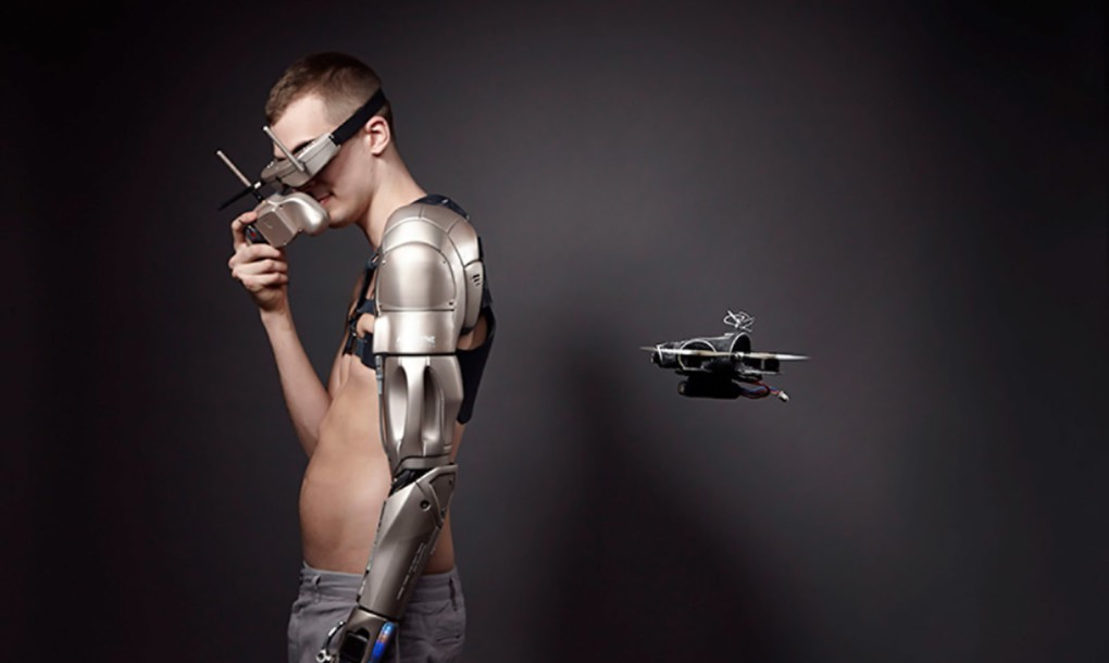 Cool Bionic Arm Comes With A Phone Charger, Torch And A Personal Drone