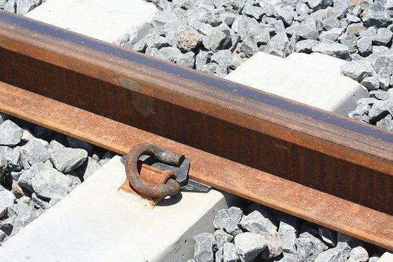 Crushed stone train track