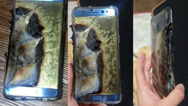 exploding samsung phones