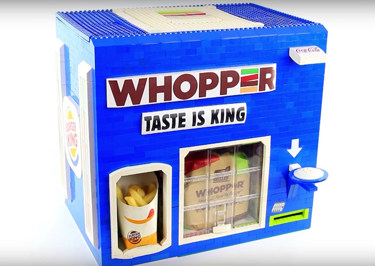 Check Out This Cool Robotic Lego Burger King Dispenser
