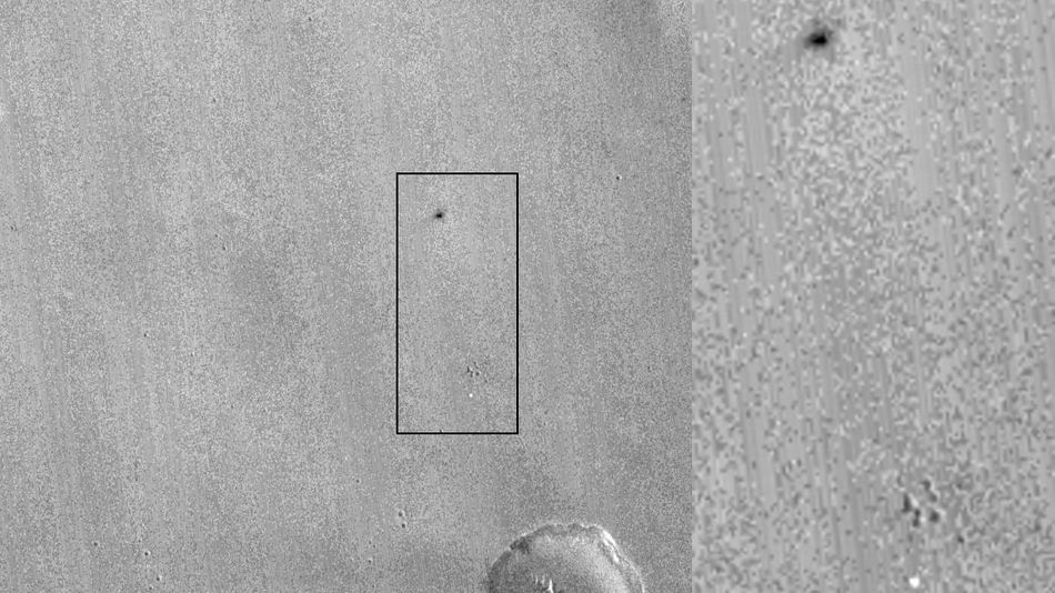 New Photo Reveals The Crash Site Of Europe's Mars Lander