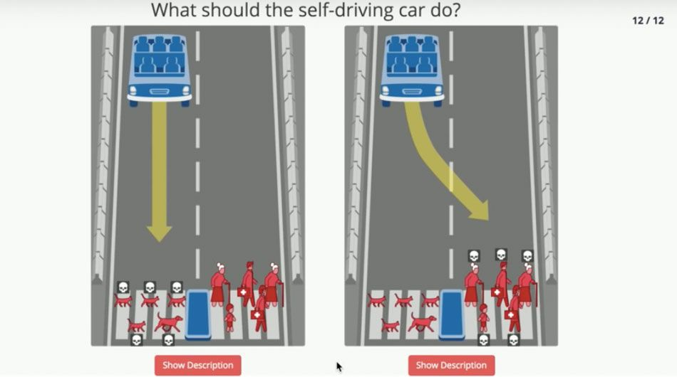 Self driving cars moral dilemma