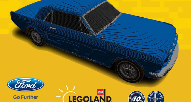 This Model Of Ford Mustang 1964 Has Been Made Completely Out Of Lego