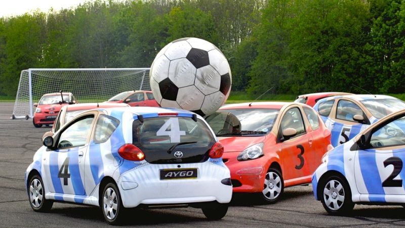 Game With Cars Playing Soccer Xbox