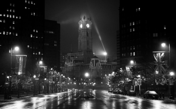 Philadelphia City Hall at the End of the Boulevard