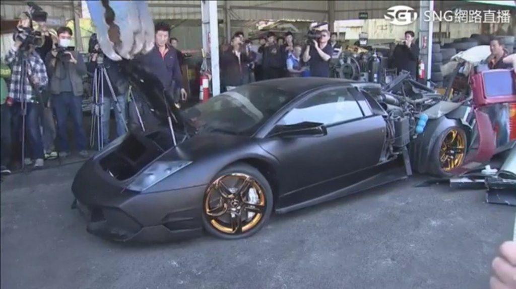 Lamborghini destruction