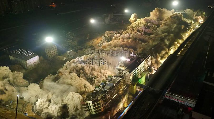 19 buildings demolished