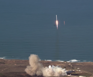 SpaceX launch from a plane