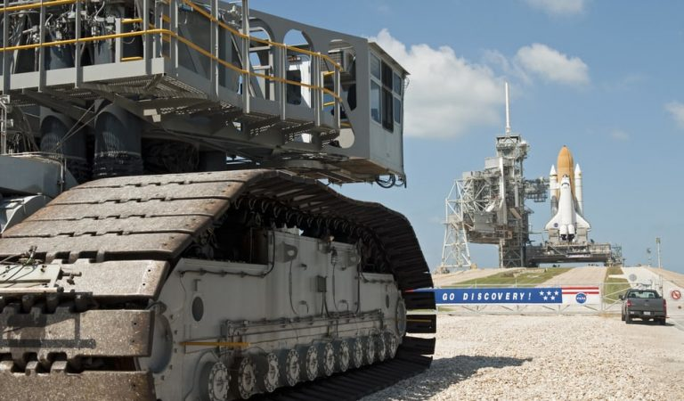 This Is How The Massive Space Rockets Are Transferred To The Launchpad