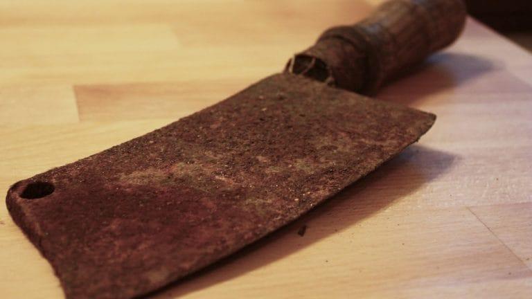 Rusty knife restored
