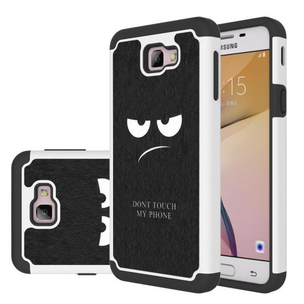 LEEGU Drop Protection, Shock Absorption. Silicone Rugged Armor Case Don't Touch My Phone