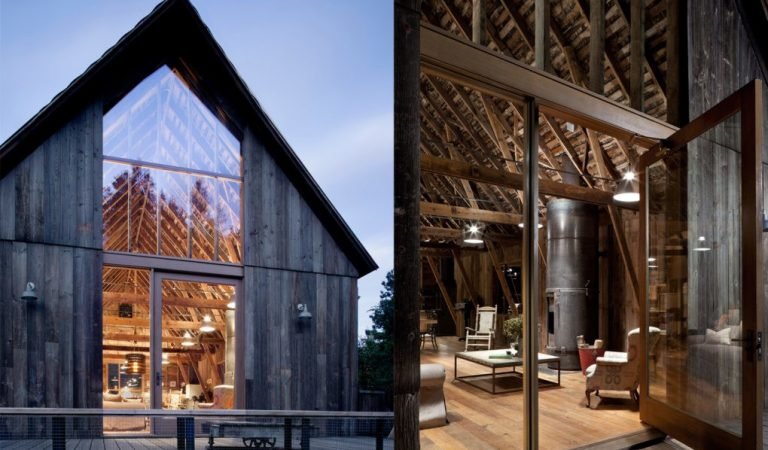 Check Out This Century Old Canyon Barn That Has Been Renovated Into A Stunning Modern Home