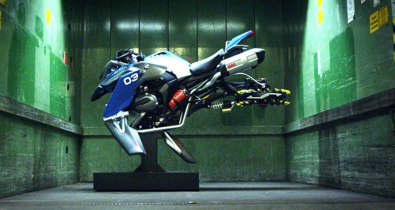 bmw unveils a flying motorbike concept vehicle made of lego blocks