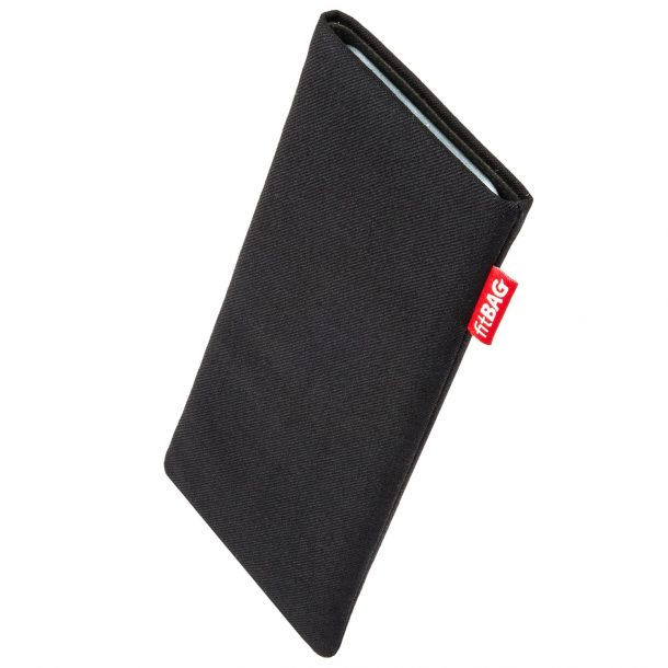 fitBAG Rave Black with integrated MicroFibre lining for display cleaning