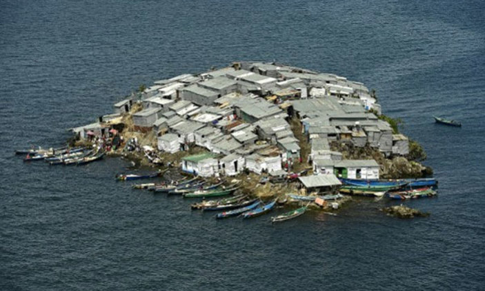 This Tiny Rock Island Called Migingo Is The Most Densely Populated Piece Of Land In The World