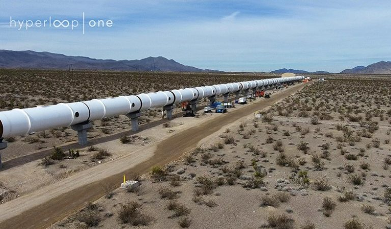 Watch The First Ever Hyperloop Full Scale Test Tunnel Being Completed In The Nevada Desert