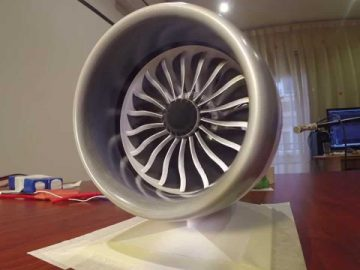 3D-Printed Model Of a B787 Jet Engine