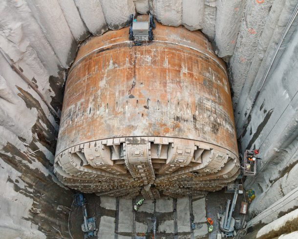 Boring Building Material : World s largest boring machine just finished building a