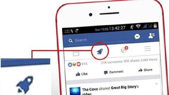 Facebook Rocket Ship icon