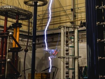 Testing a drone in lightning