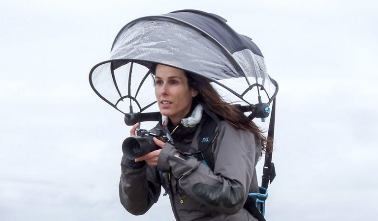 Nubrella Is A Hands-Free Umbrella For Rain Photography