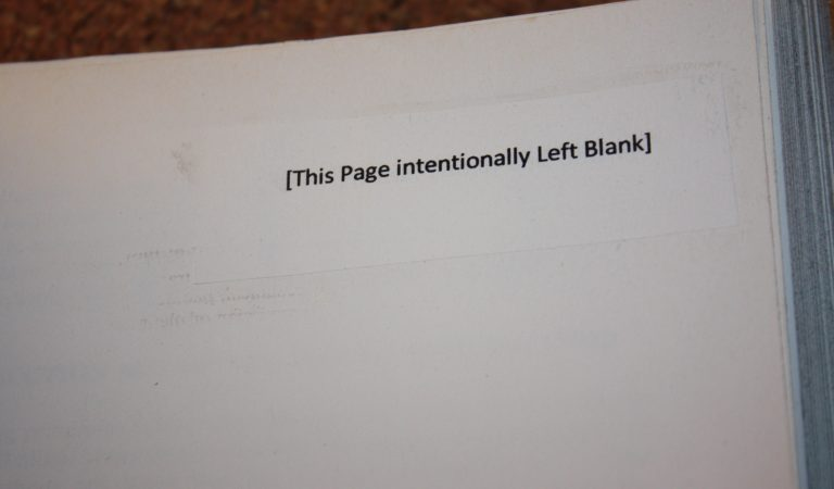 """Why Are Some Pages """"Intentionally Left Blank"""" In Books? It Is For A Reason"""