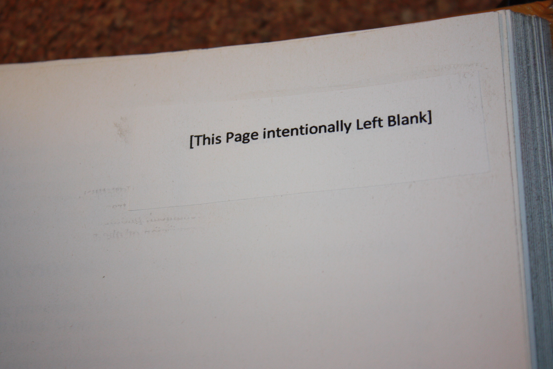 "Why Are Some Pages ""Intentionally Left Blank"" In Books? It"