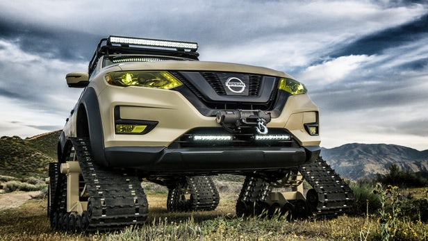 Nissan's New Rogue Trail Warrior Is A SUV With Tank Tracks