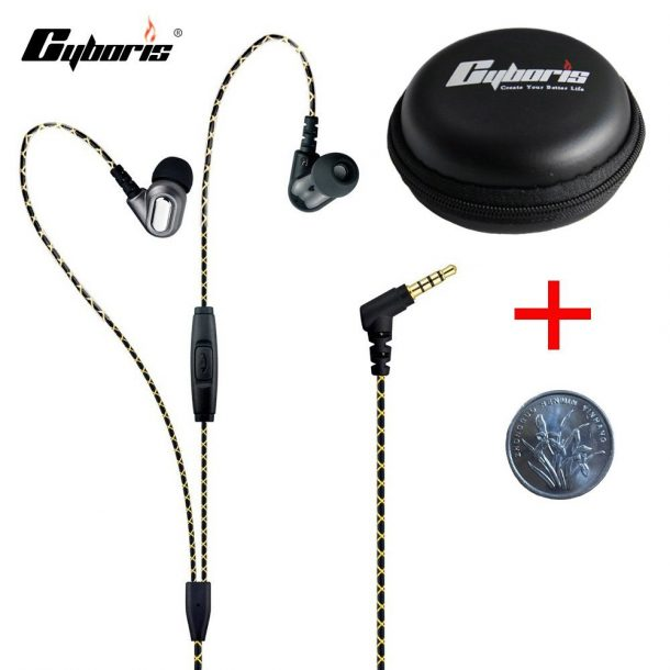 CYBORIS In-The-Ear Headphones w/Mic