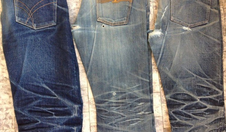 This Is How A Pair Of Faded Jeans Are Made Using A Laser Machine