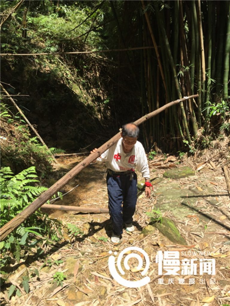 Chinese Man Builds Safe Path (4)