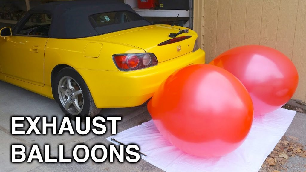 Inflating Balloons With An Exhaust - How Much Air Do Cars Use