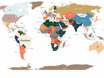 Map Of Googled Products In Every Country (1)