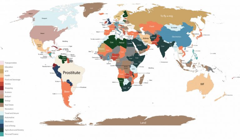 This Crazy Map Shows What Is The Most Googled Product For Every Country